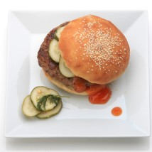 Hamburger, ketchup, pickles. Credit: Tony Cenicola/The New York Times