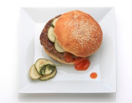 Hamburger, ketchup, pickles. Credit: Tony Cenicola/The New York Times