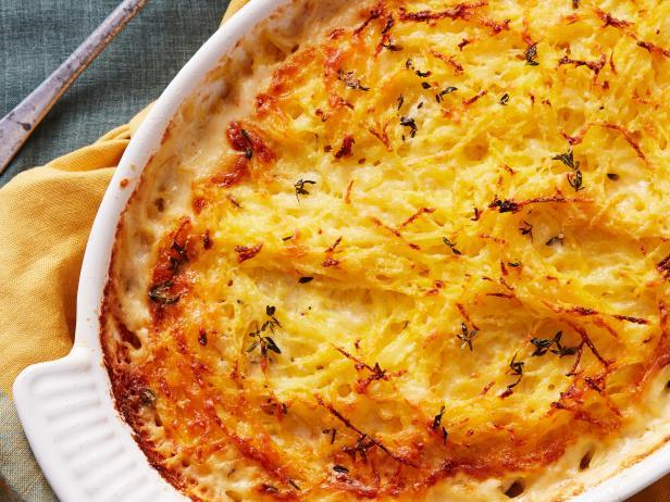 spaghetti squash potato gratin